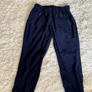 Athleta Blue Crop Cinched Pants w Pockets Size 2